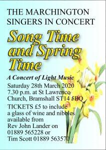 Spring concert 2020 poster